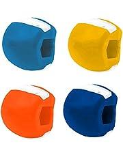 4 talltränarbollar, Jawline Shaper Face Slimmer, Jawline motion fitnessboll, 91 g av träning och hals toning
