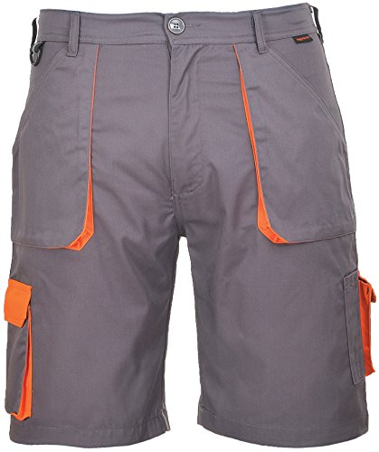 Portwest Workwear Mens Contrast Shorts Grey Large