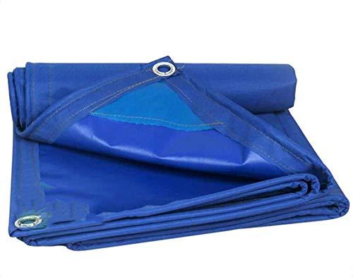 Sports Outdoors Cubierta de lona de lona azul 520g / WaterO Impermeable Ideal para cubrir la carpa de dosel Cubierta de tanque de RV dorada Lona de poliéster estándar de 0,45 mm de espesor (Color: