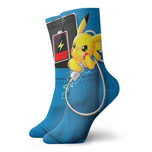 Cartoon Pikachu Socken Unisex Erwachsene Casual Crew Socken Anime Printing Crew Socken
