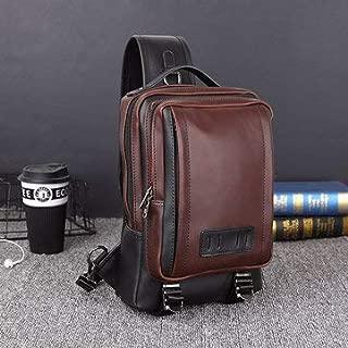Crossbody Bags For Leisure - Men Outdoor Sport Sling Bag Large Capacity Crossbody Shoulder Bag - Coffee