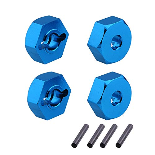 DiDi/iRC 7mm to 12mm Adapter Aluminum Hex Wheel Hubs for 1/10 1/18 RC Hobby Car 4-Pack