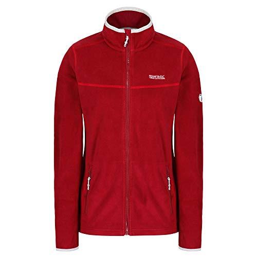 Regatta Damen Floreo II Stretch Full-Zip Fleece Jacke, Rot (Tibetan Red), 48 EU (Herstellergröße: 22)