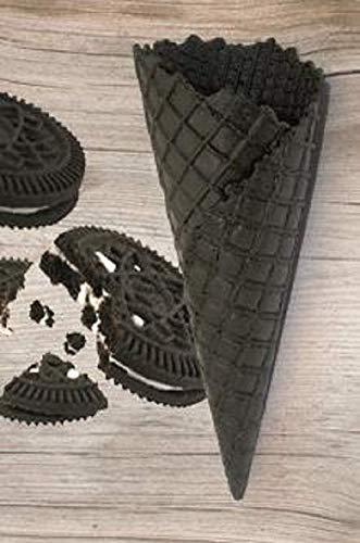 Süße Schwarze Eiswaffeln Keks Geschmack - 135xØ52mm - 42 Stück