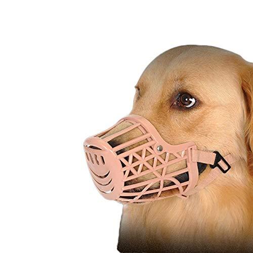 Kunststoff Hundemaulkorb, Anti-Biss justierbarer Haustier Basket Masken, Hund Ausbildung Mundschutz Mesh-Käfig, Breathable bequemer YAWJ (Color : A, Size : 7pcs set)