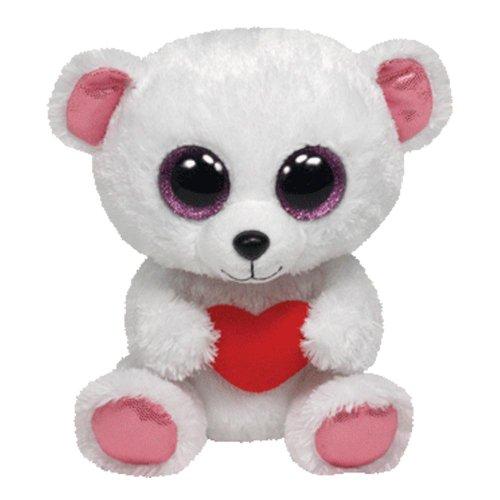 Ty Sweetly Beanie Boos Polar Eisbär 15 cm mit Herz