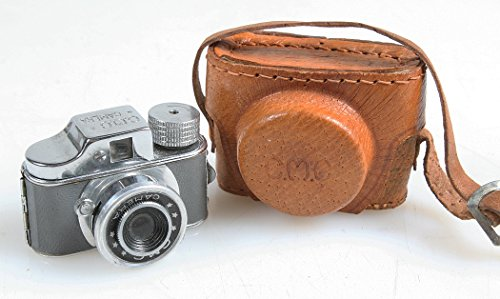 Great Deal! Rare CMC Mini SPY Camera Green/Gray with Leather CASE and Film, Prop/Display