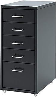 Classeur mobile à 5 tiroirs amovible en métal remplissant classeur Table de chevet Bureau Documents classeur Cabinet de ra...