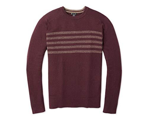 SmartWool Sparwood Pattern Crew Sweater - Men's Merino Wool Sweater Medium Woodsmoke Heather