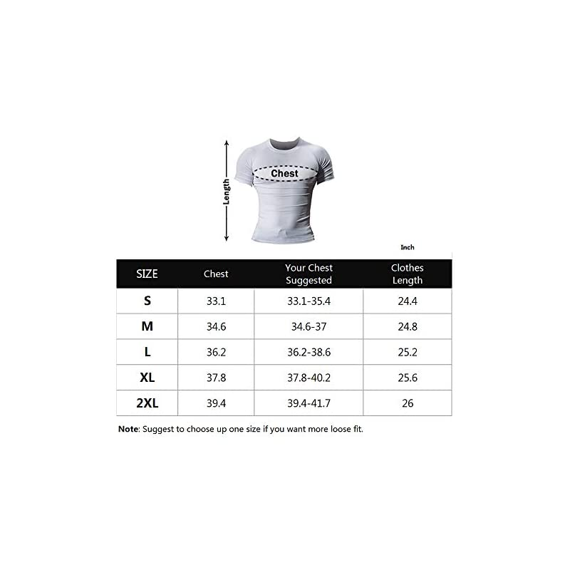 Muscle Alive Men Skinny Tight Compression Base Layer Short Sleeve T Shirt Bodybuilding Tops Polyester and Spandex