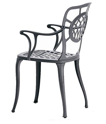 Fast Althea fauteuil en aluminium Art.10 couleur gris métal