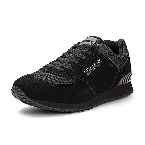 Scarpe Ginnastica Uomo Donna Sneakers da Sportive Fitness Corsa Basket Basse Running Casual All'aperto Scarpe Nero+Nero 42 EU