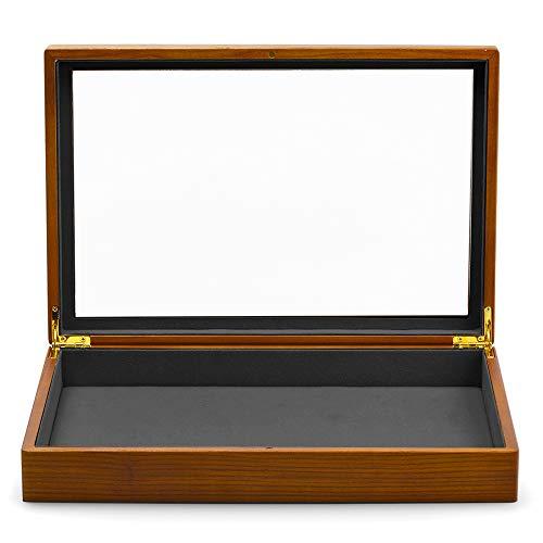 Woodten Caja de joyería de madera maciza de Japón y Corea del Sur Joyero de anillo collar pulsera caja de almacenamiento acrílico transparente exhibición de joyería