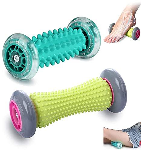 Massagerolle Fußmassage Muscle Roller Stick Hand und Fuß Massage Roller Set 2er Manuelle Fußmassageroller Kleine Faszien Foot Massager Fussmassagegerät für Fußschmerzen Plantarfasciitis