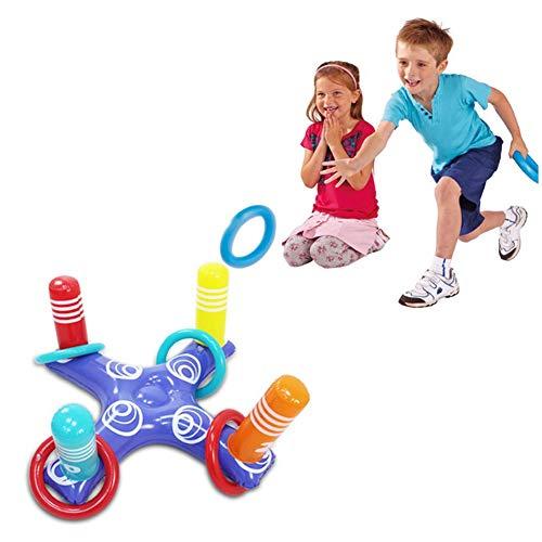 N / A Juguetes inflables para lanzar Anillos, Juguetes de Piscina flotantes Ligeros y potentes portátiles, adecuados para Juegos de Fiesta de Verano para niños y Adultos