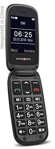 swisstone BBM 625 GSM-Mobiltelefon (6 cm (2,4 Zoll) Farbdisplay und zusätzlichem Außendisplay, mit großem beleuchteten, Kamera/Bluetooth/Notruftaste/Micro-SD)