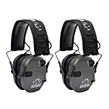 Walker's Razor Slim Electronic Shooting Muffs 2-Pack Bundle, Carbon Gray (2 Items)