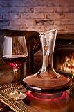Dekanter & Zubehör (Korkverschluss + Reinigungsperlen aus Edelstahl) - 100% bleifreie Weinkaraffe aus Kristallglas - Weinbelüfter Dekantierer für Rotwein - Einzigartige Geschenkidee - 9