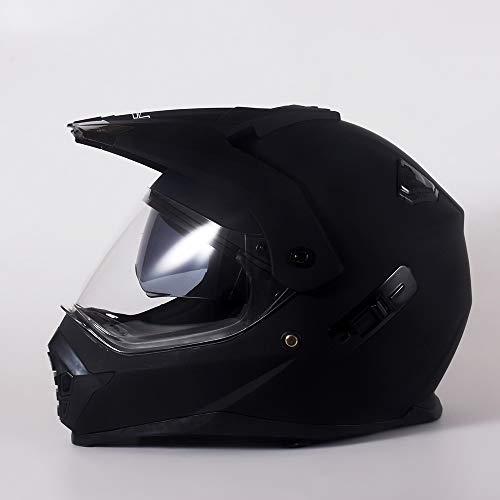 Xiaotian Casco integral de motocross para adulto con visor doble, para motos...