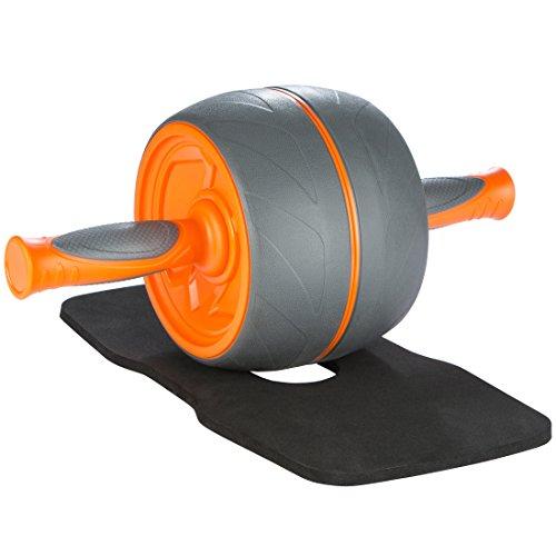 Ultrasport Premium Bauchtrainer AB, Bauchmuskeltrainer für Zuhause, zum Trainieren von Bauchmuskeln, Rücken und Schultern, Oberkörper-Roller mit gummierten Handgriffen, praktisches Sportgerät, orange
