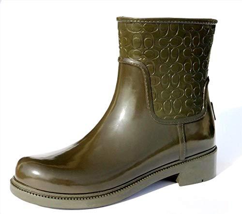 ladies coach rain boots - 7
