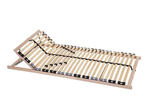 von Behren Lattenrost Easyfix K, 90 x 200 cm, 7 Zonen, 28 Leisten, Kopfteil manuell verstellbar
