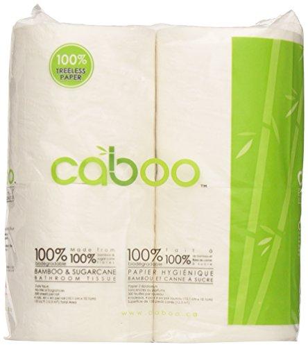 Caboo - Set di 4 rotoli di carta igienica non bio