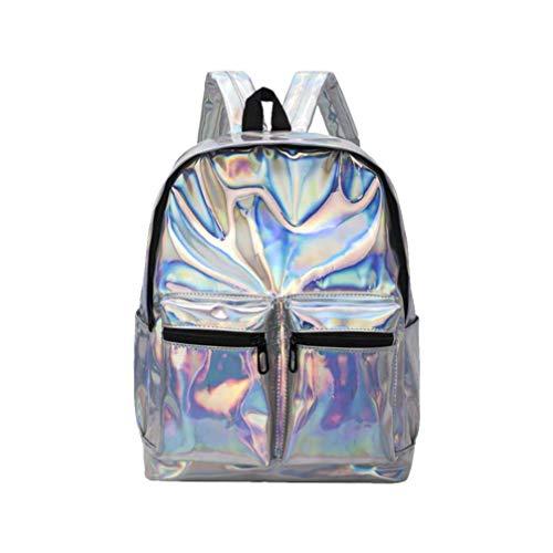 TENDYCOCO Hologramm Rucksack schillernden Rucksack holographische Tagesrucksack für Frauen Mädchen
