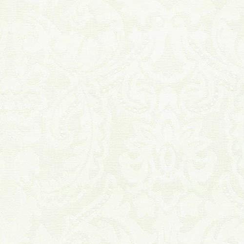 KEVKUS Jacquard Nappe Premium Coton Revêtu Visconti Nata Crème Rond - Crème, 130 cm rund
