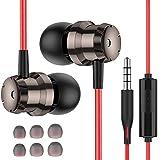 Losvick Écouteurs Intra-Auriculaires, Ecouteurs Oreillettes Haute Qualité Audio [Réduction de Bruit] Casque avec Microphone et...