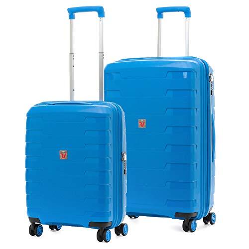 Roncato Spirit - Juego de 2 maletas rígidas con 4 ruedas y cierre TSA ultraligero