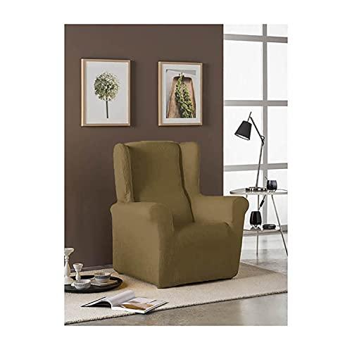 Acomoda Textil - Funda para Sillón Relax Elástica y Ajustable. Funda Diseño Moderno y Resistente XXL. (Funda Sillón Orejero, Arena)