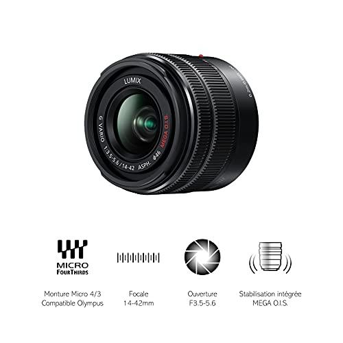 Panasonic H-FS1442AEKA LUMIX G Vario Stardzoom 14-42 mm F3.5-5.6 II ASPH. Objektiv (28-44 mm KB, O.I.S. Bildstabilisator) schwarz