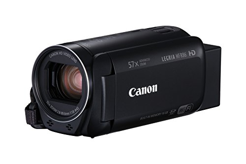 Canon LEGRIA HF R86 – 16 GB Camcorder (Full HD, Advanced Zoom 57 x, Intelligent is, WiFi, NFC) schwarz