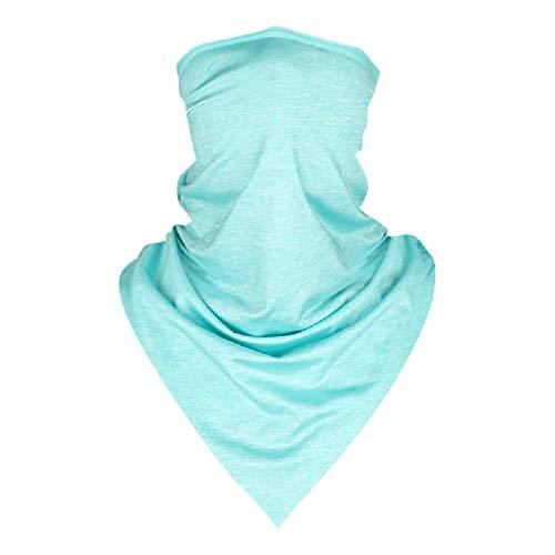 JK Home Multifunktionale nahtloses Dreieckstuch, tragbar als Stirnband, Schal, Sturmhaube, Maske, Kopfbedeckung, Bandana, Halstuch, Schlauchschal, für Männer und Frauen M Hellblau, einfarbig.