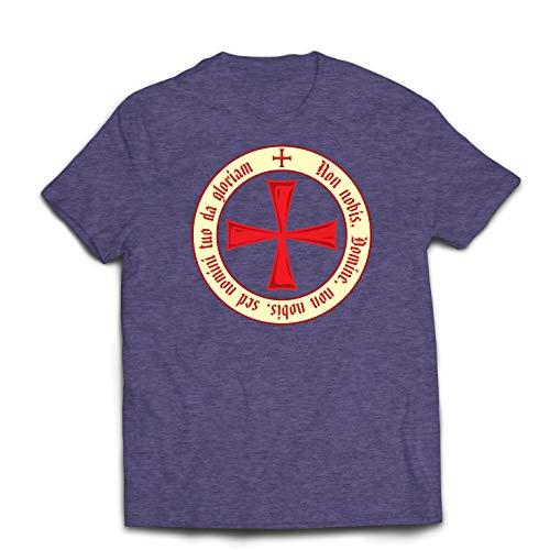 lepni.me Männer T-Shirt Der christliche Ritterorden der Tempelritter, Kreuzritter Kreuz (Medium Heidekrautgrau Mehrfarben)