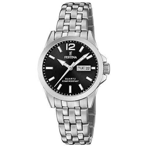Festina Damen Analog Quarz Uhr mit Edelstahl Armband F20455/4