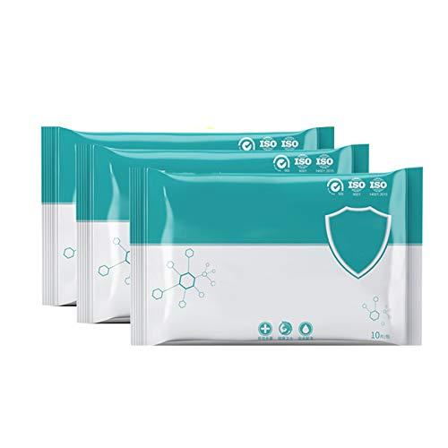 BestSiller tragbare Hygienetücher, Einweg-Servietten, Handreinigung, 10 Stück