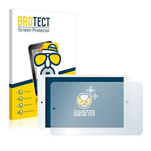 BROTECT 2X Entspiegelungs-Schutzfolie kompatibel mit i.onik TW 8 Bildschirmschutz-Folie Matt, Anti-Reflex, Anti-Fingerprint