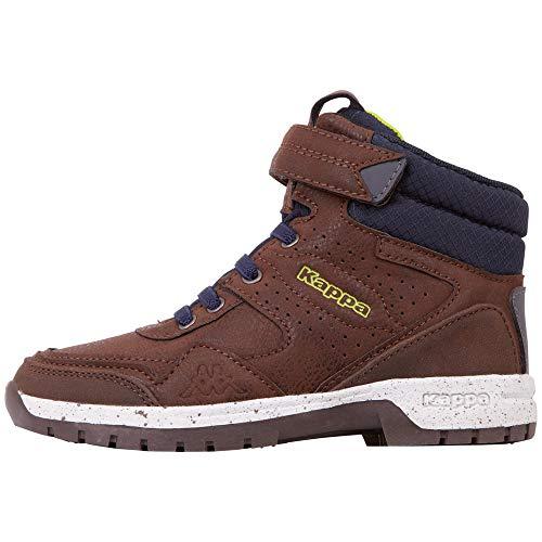 Kappa Herren Lithium Kids Hohe Sneaker, Braun (Brown/Navy 5067), 41 EU