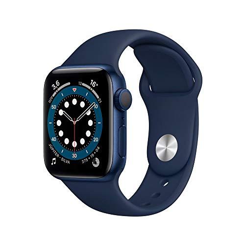 Apple Watch Series 6 Gps, 40 mm, Alumínio Azul, Pulseira Esportiva Marinho Escuro - Mg143be/a