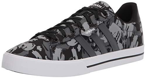 adidas mens Daily 3.0 Skate Shoe, Black/Grey/White, 8 US