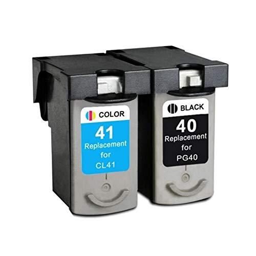 LIUYB PG40 CL41 Pg-40 CL-41 - Cartucho de tinta compatible con Canon Pixma MP160, MP140, MP210, MP220, MX300, MX310, IP1800, IP2500, IP1600, IP1200 (color: un juego)