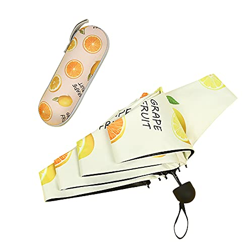 Mabor Paraguas de bolsillo paraguas plegable paraguas paraguas durable caminar soleado sombreros lluvia engranaje impermeable tela aleación de aluminio