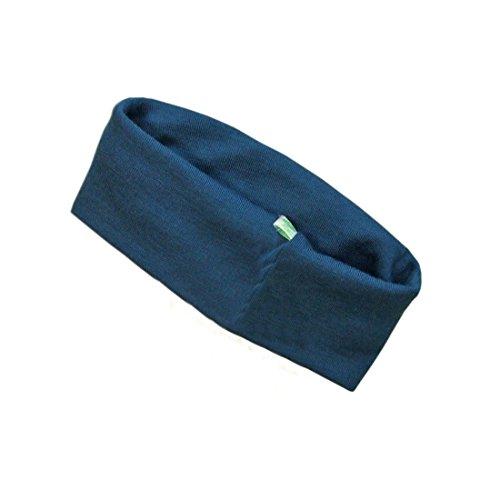 Green Rose Écharpe tour de cou 100 % laine mérinos bio pour bébé et enfant, bleu, taille unique