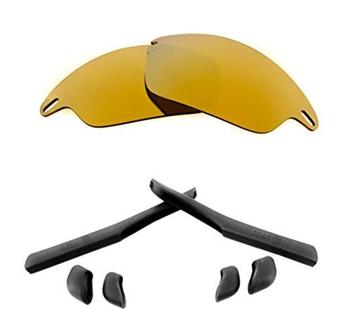 Accesorios de lentes de repuesto compatibles con OAKLEY FAST JACKET Oro &...