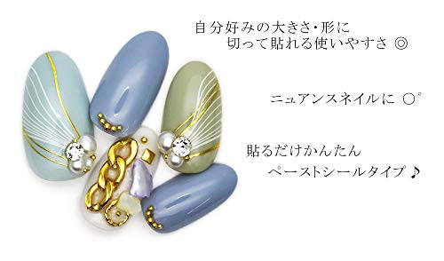 【CB-090】細ウエーブラインシール【シルバー】ネイルシール
