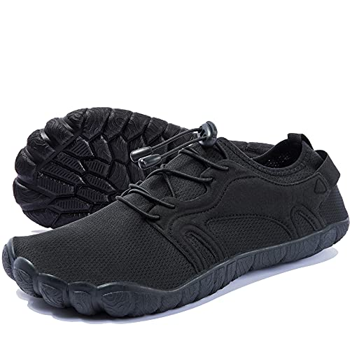 Zapatos de Agua para Hombre Zapatos Descalzos de Secado Rápido Zapatos Deportivos acuático para Playa Pesca Yoga Buceo Esnórquel Surf Negro 41 EU