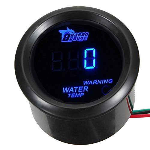 ESUPPORT Car 2' 52mm Digital Water Temp Gauge Temperature Meter Blue LED Light Celsius