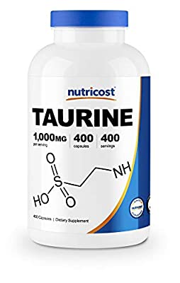 Nutricost Taurine 1000mg, 400 Capsules